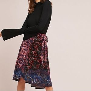 Anthropologie Maeve Faux Wrap Skirt